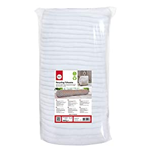 RAYHER Recycling Cushioning Cotton, in Layers, Out of Polyester Material, Bag 1kg, White, 1 kg