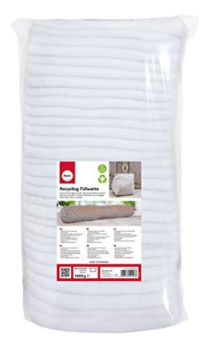 Rayher 3315400 Recycling Füllwatte in Lagen, weiß, Beutel 1 kg, 100{a8483f133071e6d8f6184a570ebdee6db7b9e727583bad891de22197596ad36e} Polyester, waschbar, allergieneutral, veganes Füllmaterial