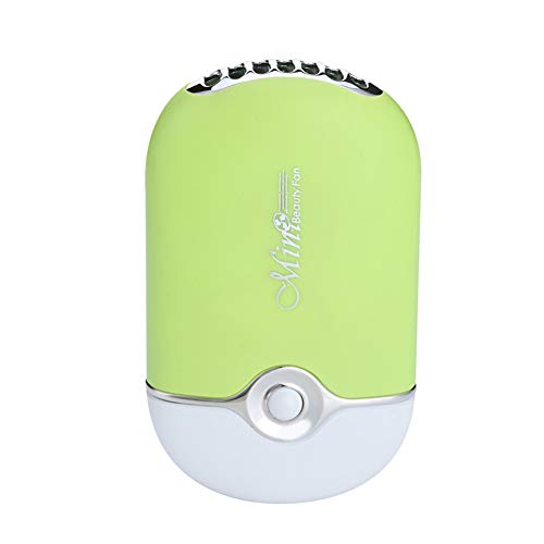 NN-xUE Mini-Ventilator, elektrischer USB-Flügelloser tragbarer Ventilator-Trockner-Handheld 3 Geschwindigkeits-justierbare Wimpernverlängerung Büro-im Freienreise,Green