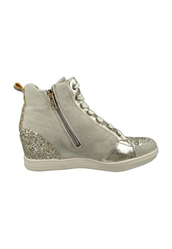 Tamaris Damenschuhe 1-1-25258-27 Damen Sneaker, Wedges, sportliche Halbschuhe, Schnürschuhe GOLD COMB