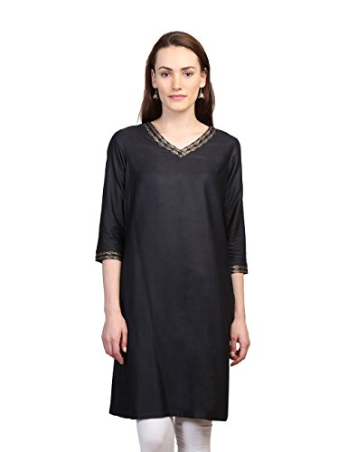 Fabindia Women's Tussar And Cotton A-line Kurta