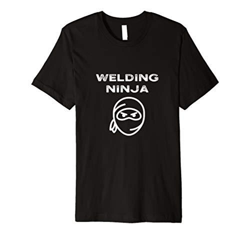 Welding Ninja Lustiges Schweißens Schweißer Geschenk T-Shirt - Blue Womens Grafik