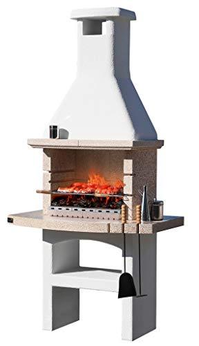 1pz barbecue in muratura mod.tuareg crystal in cemento,con cappa cm 114x71x231h