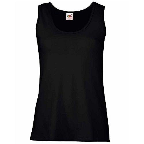 Fruit of the Loom Fruit of the Loom Damen Tank Top Valueweight Vest Lady-Fit 61-376-0 Black XS