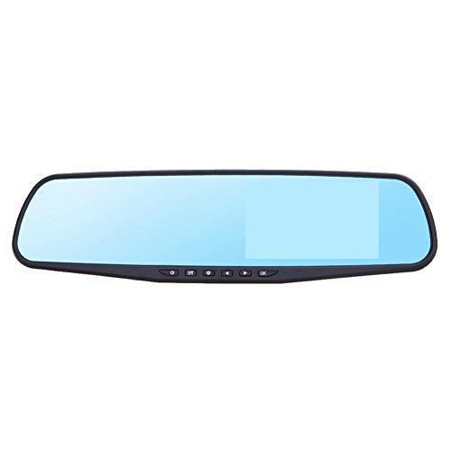 Demiawaking 4.3LCD Dual Lens Dash Cam Video Recorder 170° grandangolare auto DVR 1080P Specchietto Retrovisore