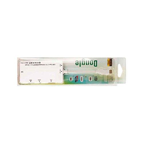 Zerama 4-en-1 Dongle Tipo C a VGA de Audio HD 1080P DP VGA HD Converter 3 Pantallas Display Adapter