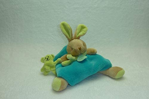 Doudou et Compagnie Les Animaux Graffitis DC2557 Rabbit Soft Toy Toy Toy Turquoise by Doudou et Compagnie b90585