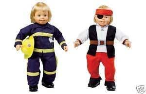 Smoby–Pirate et pompier Costume Tenues pour poupée Roby (