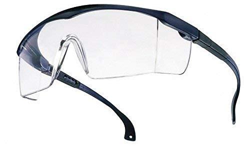 Arbeit Kostüm Für Nerd - Schutzbrille BASIC klar EN166 blau Laborbrille