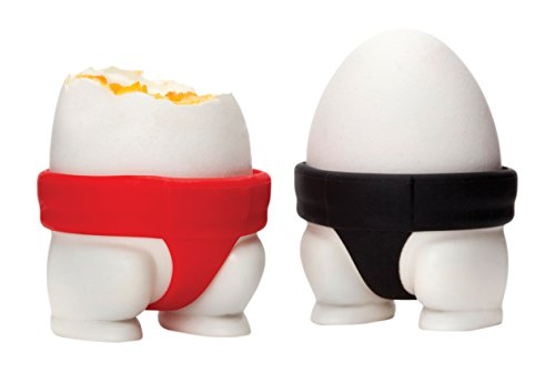 peleg-design-sumo-silly-egg-cups-red-black-4-x-57-x-55-cm-set-of-2