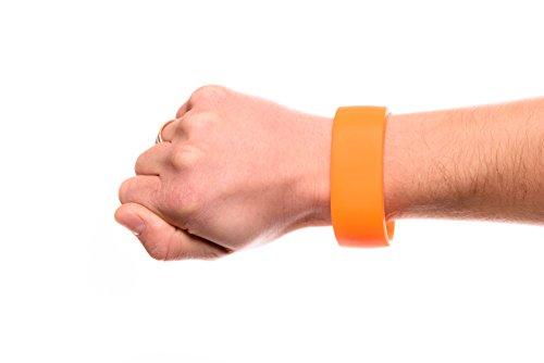 Fitness Silikon Schlüssel-Armband Wertsachen Sport Laufen Joggen Schwimmen Running Outdoor Wasserfest Aufbewahrung Schlüssel Geld Münzen (Orange, Größe M) (Wertsachen Armband)