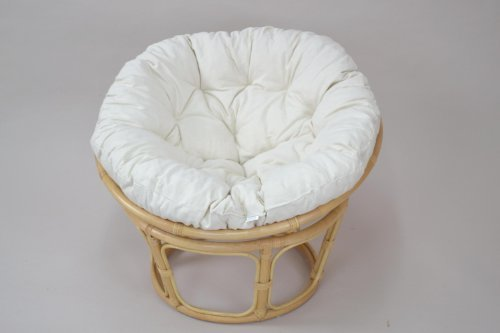 moebel direkt online Papasansessel, Durchmesser 80 cm _ Inklusive Kissenauflage _ Farbe beige