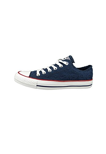 Converse Chucks 555979C Chuck Taylor All Star Eyelet Stripe OX Navy Garnet White Blau Blu