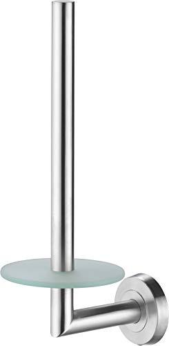 Hängende Wc-papierrollenhalter (Golden Lutz® WC-Papierrollenhalter für Ersatzrollen aus rostfreiem Edelstahl, gebürstet - Kleben oder Schrauben -)