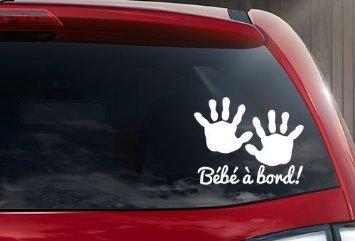 Sticker autocollant bébé à bord petite main bébé