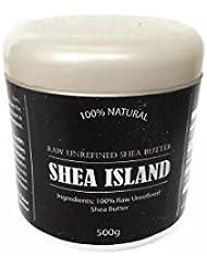 Shea Island beurre karité 100% Naturel Brut Ivoire Grade A 500gr Excellent peau et cheveux Hydratant, contribue...