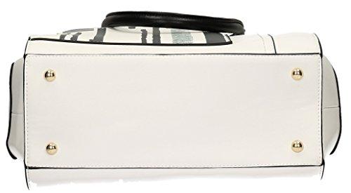 Bruni Graphic Stripe Ladies Borsetta Da Donna Borsa Di Design - Swankyswans Bianco