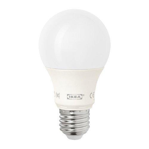 IKEA LEDARE - LED bulb E27, dimmable, globe opal white - 600 lm by Ikea