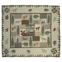 Patch Magic King Mountain Whispers Quilt, 105-Inch by 95-Inch by Patch Magic Mountain Whispers Quilt