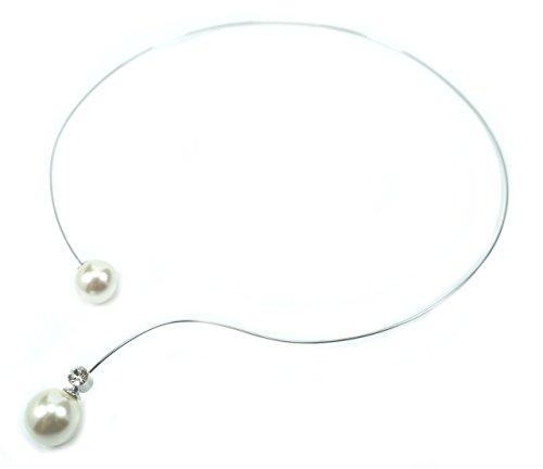 f mit einer 14 mm und einer 12 mm Perle (in Mallorcaqualität) mit einem Effektlayer in Creme-Weiß und einem eingefassten Kristall ()