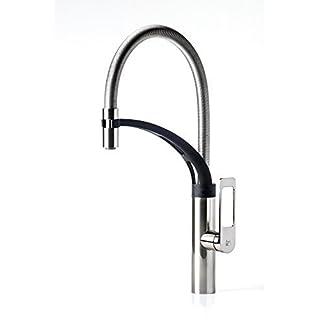 AWA - Jun Spring - Satin Nickel - Single-hole pull-down kitchen mixer faucet