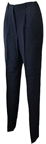 Simon Jersey Ladies Tailored Navy Trousers 10