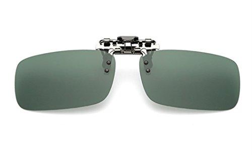 ELSA & ANNA® Polarisierte Sonnenbrillen Unisex Flip-up Klipp auf Sonnenbrille Gläsern Brille VF-GLS02 (Grün)