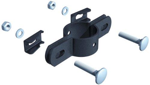 Preisvergleich Produktbild GAH-Alberts 563417 Doppelschelle, für Pfosten Ø 34 mm, anthrazit-metallic