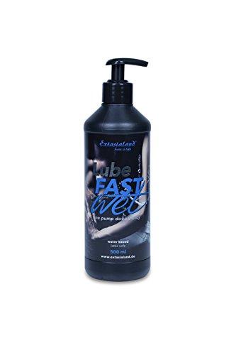 Extasialand Lube Fastwet Gleitgel 500 ml auf Wasserbasis Massagegel mit schlauem Pumpverschluss Gleitmittel