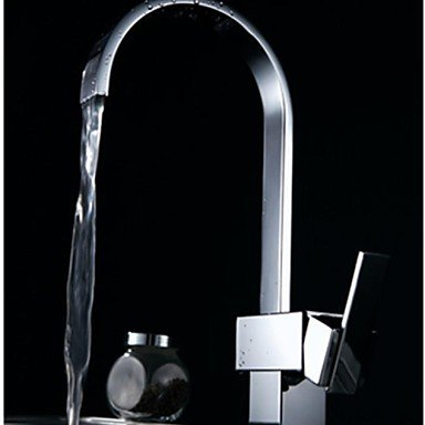SHUYOU® Contemporary Waterfall 360 Degree Rotate One Hole Single Handle Kitchen Faucets