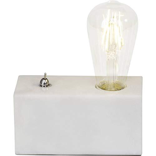 Lampe Ampoule Leonie Blanche En Marbre Et Métal