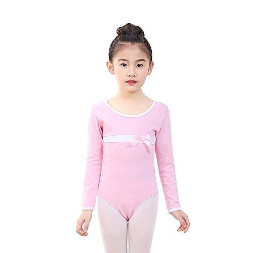 (Wingbind Einteilige Gymnastik Trikots für Kinder Mädchen Kinder, Langarm Baumwolle Dance Kostüme Ethnische Dance Wear Bodysuit)
