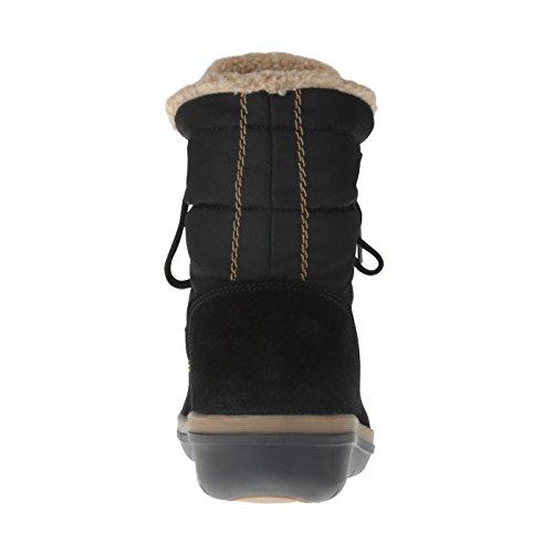 tessamino Damen Stiefelette aus Tex-Membran und echtem Leder, Weite H Schwarz