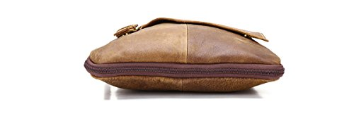 JOYIR B205, Borsa a spalla uomo Green oil M Brown Color