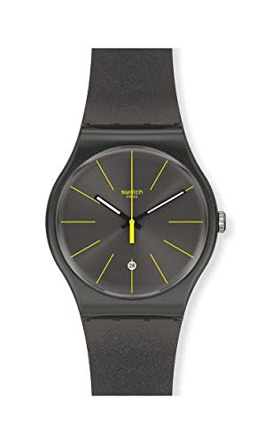 Swatch Orologio Quarzo con Cinturino in Silicone SUOB404