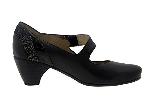 Chaussures femme en cuir Confortable Piesanto 7403Mary Jean Urban Casual Large Confort Chaussures Noir - Noir