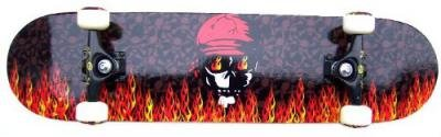 Krown Longboard Skateboard Pro Red Skull Flame 7.75