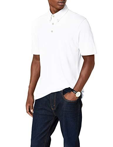 James & Nicholson Herren Poloshirt Poloshirt Men's Plain weiß (white/navy-white) Large -