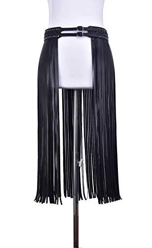 GNCBEFantastic Long Tassels Damengürtel Designer Ledergürtel Gabel Damen Korsett Trendy Bund Leder Rock Gürtel - Leder Buckle Korsett