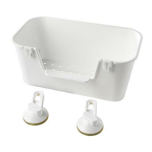 IKEA STUGVIK -Korb mit Saugnapf weiß