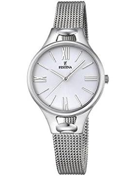 Festina Damen-Armbanduhr Analog Quarz Edelstahl F16950/1