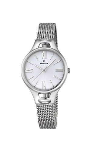 Festina MADEMOISELLE Women's Quartz Watch with Silver Dial Analogue Display and Silver Stainless Steel Bracelet F16950/1