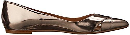 Calvin Klein Gailia Cuir Chaussure Plate Metalic