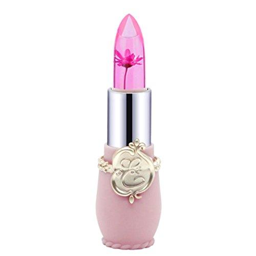 Rouge à Lèvres,Honestyi Beauté Rouge à Lèvres de Cristal Brillant de Fleur Décoloration (Rose)