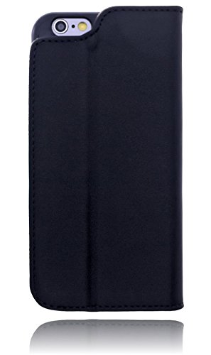 Burkley Premium Magnetic Leder Tasche für das Apple iPhone 6 / 6S in 4.7 Zoll Book Cover Schutzhülle mit Standfunktion und Magnetverschluss in braun schwarz / black