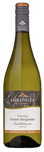 Ihringer Fohrenberg Grauer Burgunder Qualitätswein trocken 0,75 L, Artikel Nr. 78426, Mindestbestellmenge 6 Flaschen aus dem Gesamtsortiment