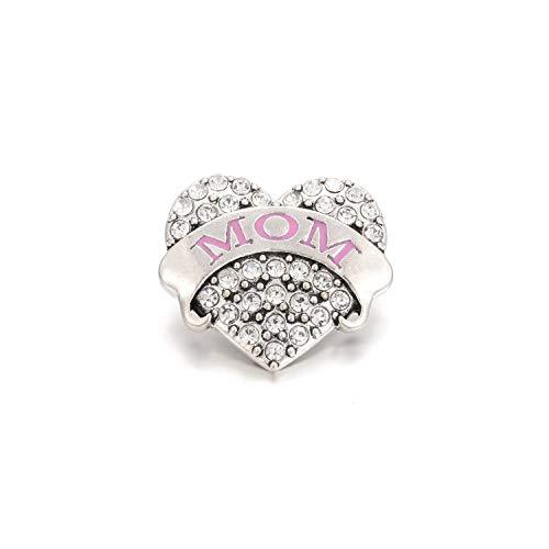 Awertaweyt Edelstein Perlen Armband Snap Jewelry Mixed Gold Snap Button for Women Fit 18Mm Snap Bracelet DIY Ginger Beads Button Jewelry 9 (Perlen-snap Button Armbänder)