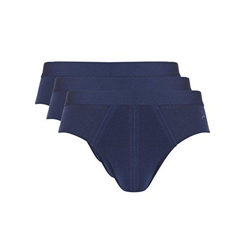Ten Cate Herren Sport-Slip Klassische Unterhose Basic 3-Pack - Baumwoll-Mix - Denim-blau - Größe XL (TC-30220-109-XL)