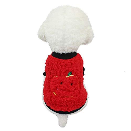 HoSayLike Haustier Hund Modisch Freizeit Sommer Atmungsaktiv Welpen Kleid Soft Baumwolle Samt Hemd Rock Druckennettes Haustier Welpen Weste Kleidungs Hemd ()