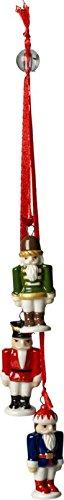Nussknacker Ornamente (Villeroy & Boch Trio-Ornament Nussknacker, 13,5 x 11 x 11 cm, rot/blau/grün, Hartporzellan)